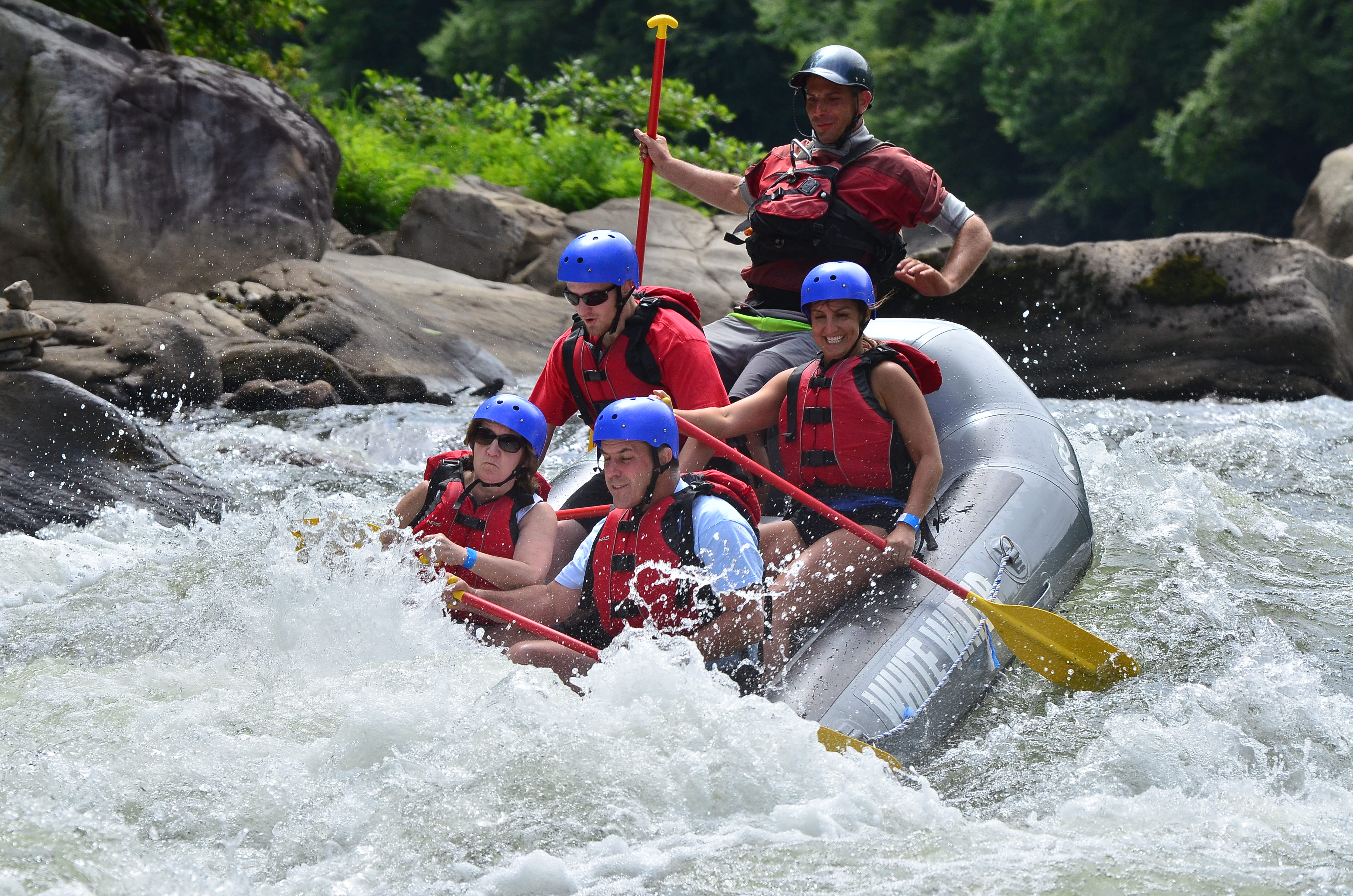 Pictures of topless river rafting