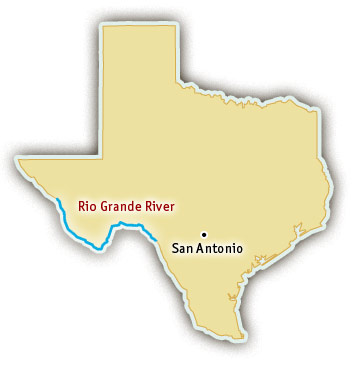 Texas Whitewater Rafting Trips - Where is texas